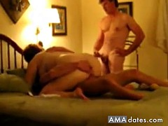horny wife gets fucked in front of her husband