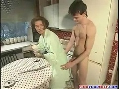 Horny lad make love his aunt