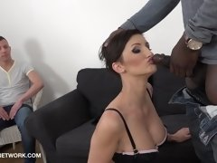 Short Hair Wife Cant Get Enough Anal husband lick cum