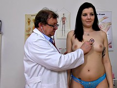 Babe With Stockings Needs Doctor's Help