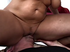 Poolboy Fucks Mature Blonde Babe After Getting Caught Spying