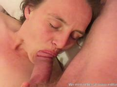 MILF honey with a shaved pussy is ready for some hot toying