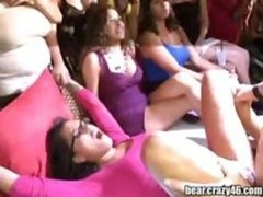 These aroused kittens put on a show & fuck at this large party