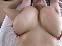 Massage Of Her Giant Tits