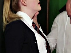 Facialized british schoolgirl sucking cocks
