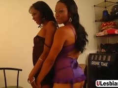 big dildo pleasing two lesbians