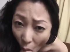 Perfect mature Asian quick blowjob