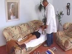 Susana De Garcia is thoroughly analyzed by a doctor