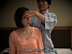 subtitled Japanese massage hotel nanpa oral sex in HD