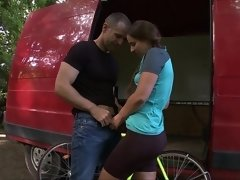 Banging the bike-riding teen