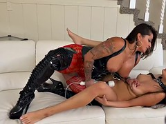 Spicy J and Samantha Parker in rough lesbian sex
