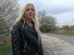 Public Agent Outdoor sex with Russian teen