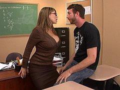 Женщины, Секс без цензуры, Милф, В офисе, Учитель