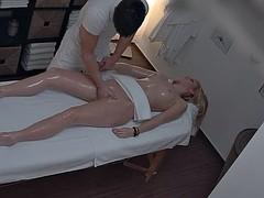 Leie, Blondine, Massage, Spanner