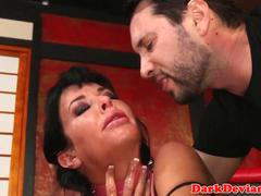 BDSM sub Veronica Avluv squirts before fisted