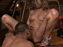 busty submissive punished and restrained