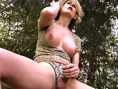 delia delions wanking in the woods