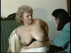 GRANNY AWARD n14 bushy bbw mature with a toung man