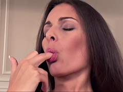divine hungarian beauty lia taylor takes care of her tight muff all alone