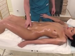 A massage turns into a wild and hot fucking session and its fun