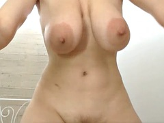 lactating slut spreads pussy and squirts