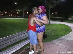 Busty BBW MILF Meets Stranger in Park and Fucks