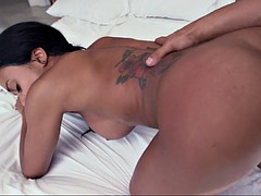 anya ivy slips the cock inside of her tight pink pussy