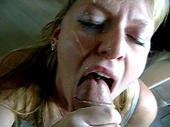 Sperma shot, Sperma in gezicht, Slikken