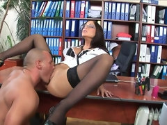 Hot secretary needed a good fuck