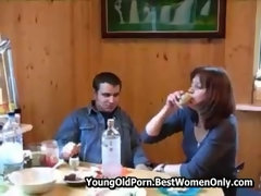 Russian Drunk MILF Home Love Making