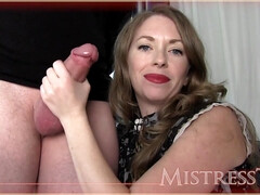 Mistress T Mom's Cocksucking Lesson  and Handjob