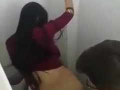 Sex video of man and his girlfriend in the toilet