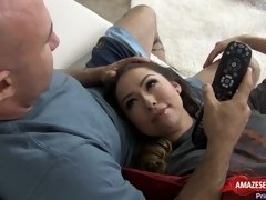 Naughty daughter seduces her stepdad!