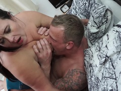 British curvy housewife Katie Coquard fucking and sucking