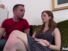 Zara tastes a friend is delicious cock