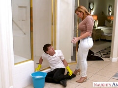 Stepmom with huge jugs Sara Jay seducing & screwing stepson - old and young hardcore