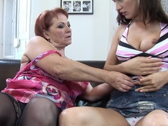 Three older lesbians doing a hot and horny babe