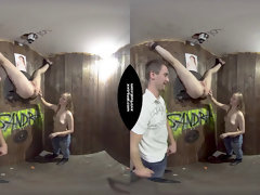 Virtual GloryHole hook-up in 180°
