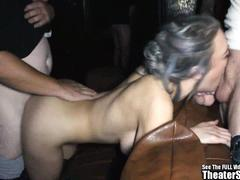 Big Boobs Sperm Gagging Slut Messy Gangbang