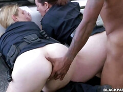 Black Dicks Matter police threesome