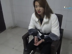 Chinese Female In Jail & Chains