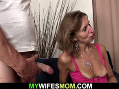wife watches him fucks old hairy motherinlaw