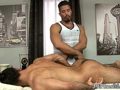 Bear masseur and client