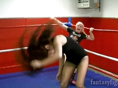 Wrestling Match - Lesbian Catfight Video